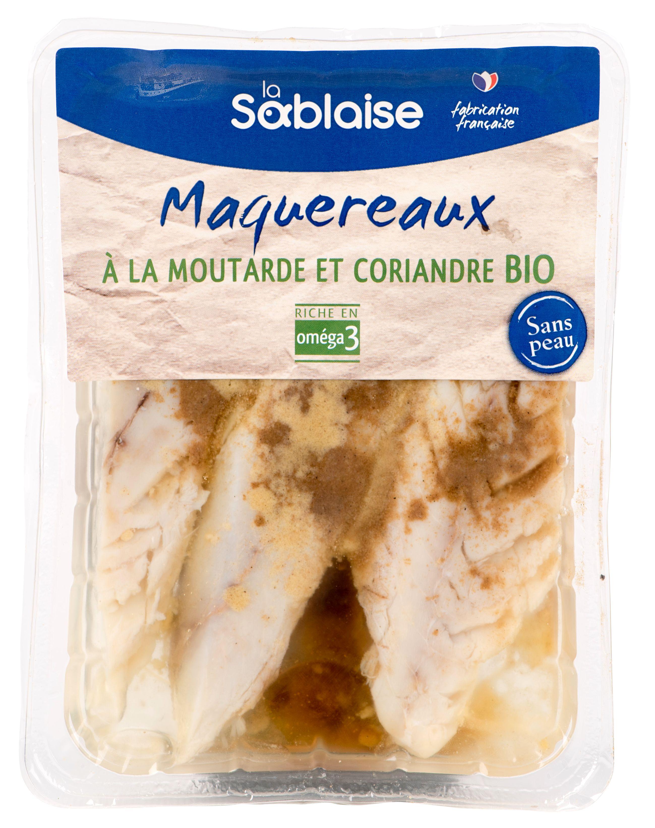 Maquereaux marinés à la moutarde et coriandre BIO, La Sablaise (150 g)