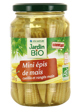 Mini épis de maïs BIO, Jardin Bio (330 g)