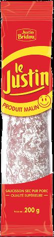 Saucisson Justin Malin, Justin Bridou (200 g)