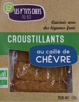 Croustillant au chèvre BIO, Les P'tits Chefs du Bio (x 5, 150 g)