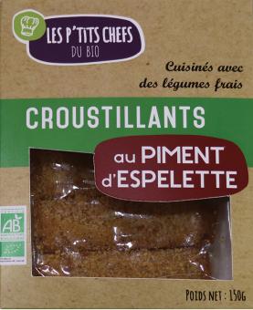 Croustillant au piment d'Espelette BIO, Les P'tits Chefs du Bio (x 5, 150 g)