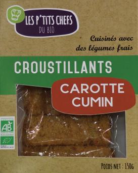 Croustillant carottes cumin BIO, Les P'tits Chefs du Bio (x 5, 150 g)