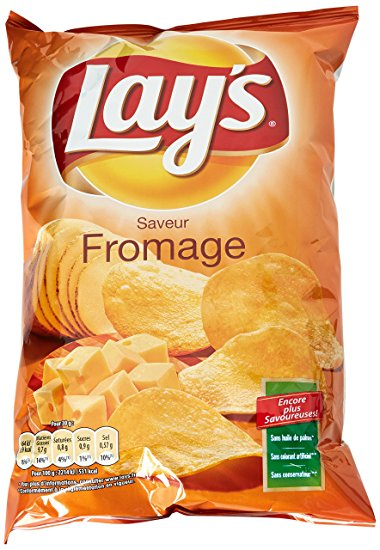 Pack de 6 - Chips saveur fromage, Lay's (130 g)