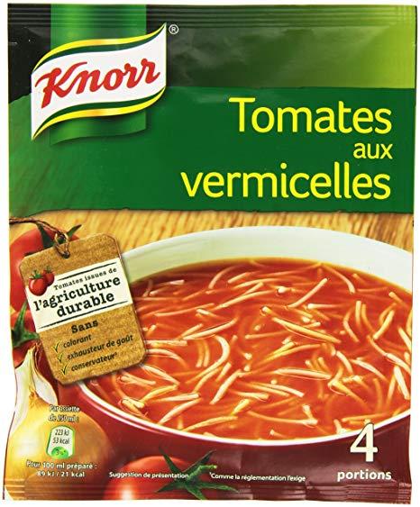 Potage de tomates aux vermicelles déshydraté, knorr (4 portions)
