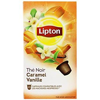 Thé noir caramel vanille, Lipton (10 capsules)
