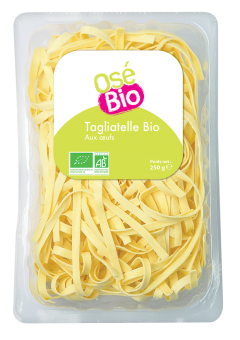 Tagliatelles aux oeufs BIO, Osé Bio (250 g)