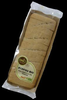Préfou BIO, pain apéritif à l'ail tranché, Brio (200 g)