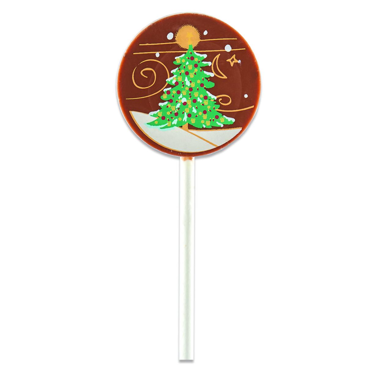 Sucette de Noël ronde, chocolaterie Schaal (10 g)