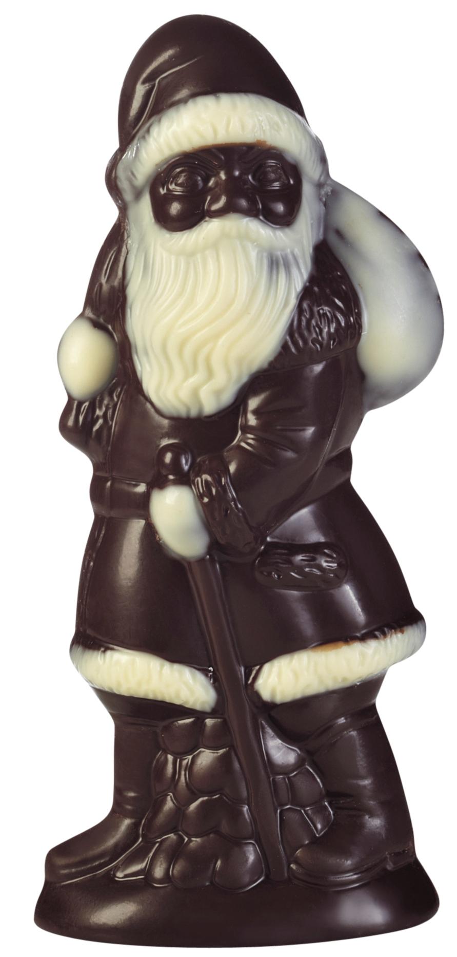 Père Noël au chocolat noir, chocolaterie Schaal (75 g)