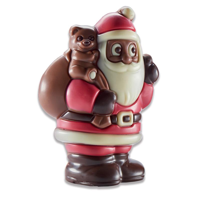 Père Noël avec sac chocolat au lait, chocolaterie Schaal (75 g)