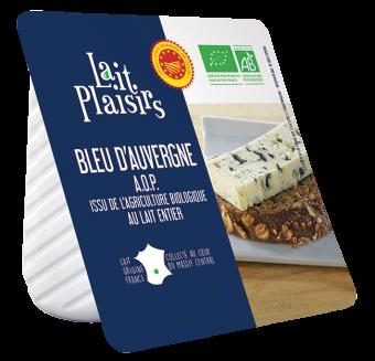 Bleu d'Auvergne AOP BIO, 29 % MG/PF, Lait Plaisirs (125 g)