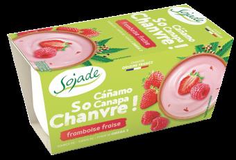 Dessert de chanvre framboise fraise So Chanvre, Sojade (x 2, 200 g)