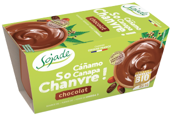Dessert de chanvre chocolat So Chanvre, Sojade (x 2, 200 g)