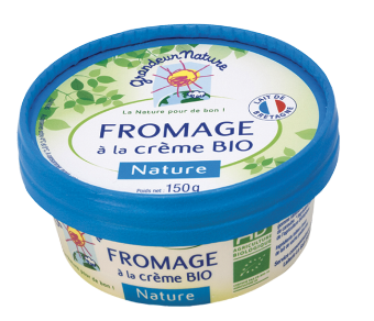 Fromage à la crème nature BIO, 23,3 % MG, Grandeur Nature (150 g)