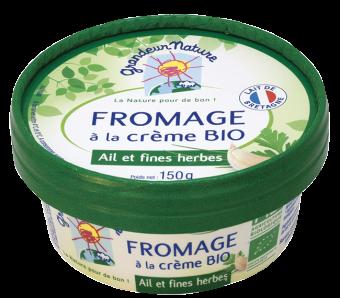 Fromage à la crème ail et fines herbes, 23 % MG/PF, Grandeur Nature (150 g)