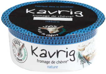 Kavrig, fromage de chèvre à tartiner, nature BIO, Kerguillet (150 g)