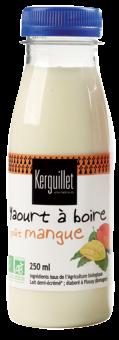 Yaourt à boire à la mangue BIO, Kerguillet (250 ml)