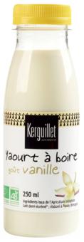 Yaourt à boire à la vanille BIO, Kerguillet (250 ml)