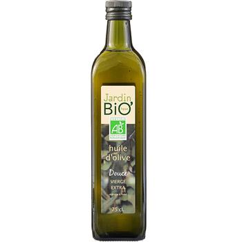 Huile d'olive vierge extra douce BIO, Jardin Bio (75 cl)