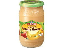 Compote pomme banane, Andros (750 g)