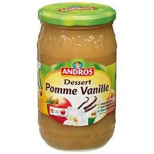 Compote pomme vanille, Andros (750 g)
