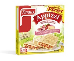 Appizi jambon, fromage, tomate, Findus (2 x 125 g)