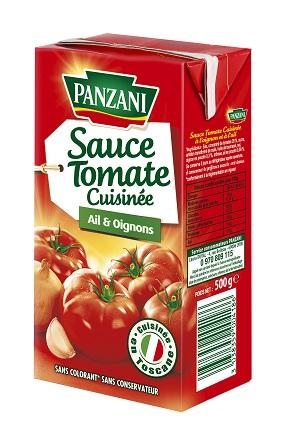 Sauce tomate cuisinée ail & oignon, Panzani (500 ml)