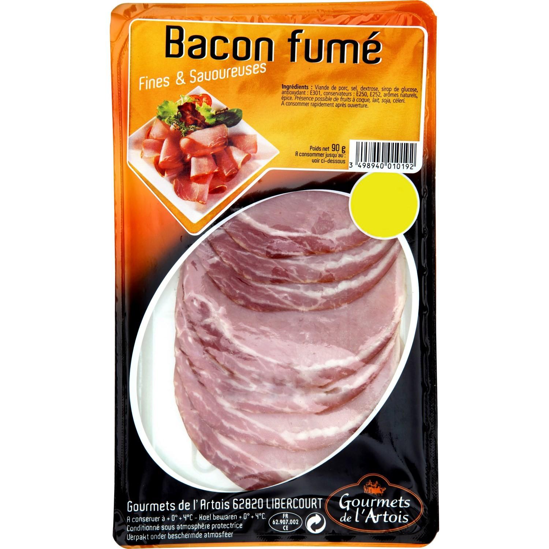 Bacon fumé, Gourmets de l'Artois (90 g)