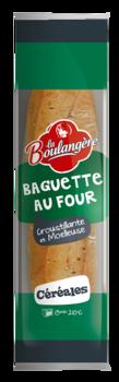 Baguette aux céréales au four, La Boulangère (250 g)