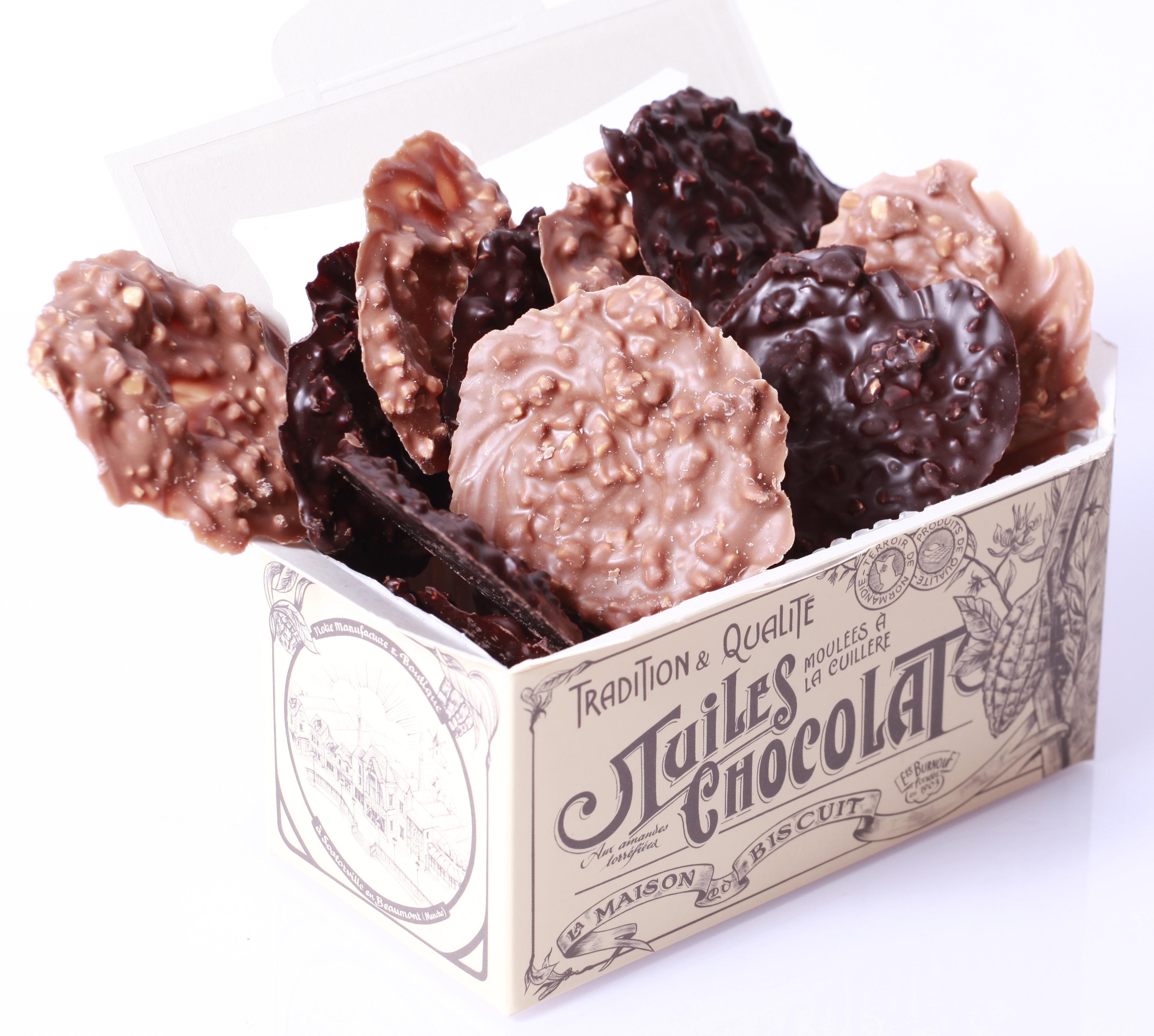 Ballotin de tuiles au chocolat panaché, La Maison du Biscuit (170 g)