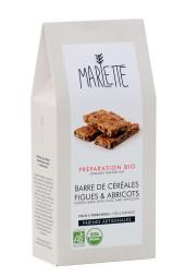 """Préparation """"Barres de céréales aux figues et abricots"""" Bio, Marlette"""