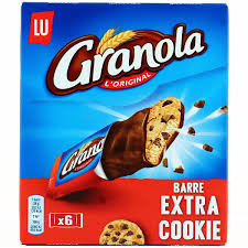 Granola barre extra cookies, Lu (168 g)
