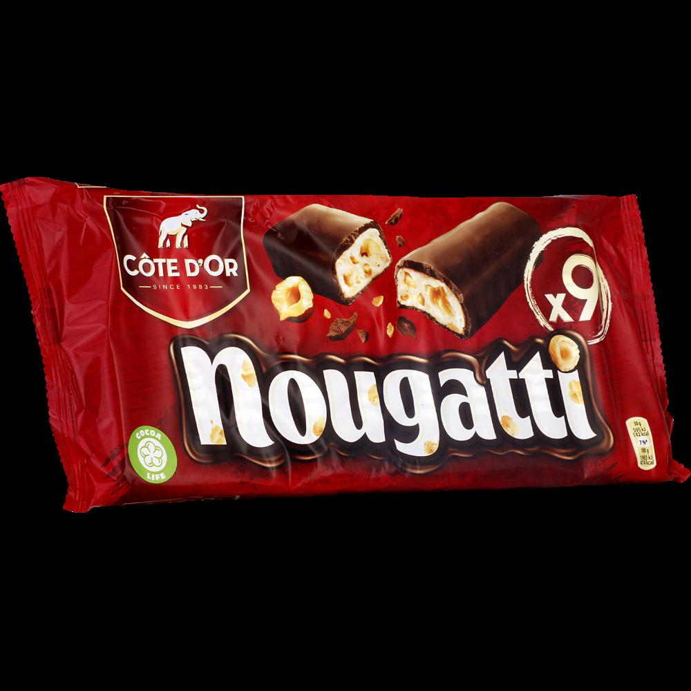 Barres de nougat au chocolat Nougatti, Côte d'Or (9 x 30 g)