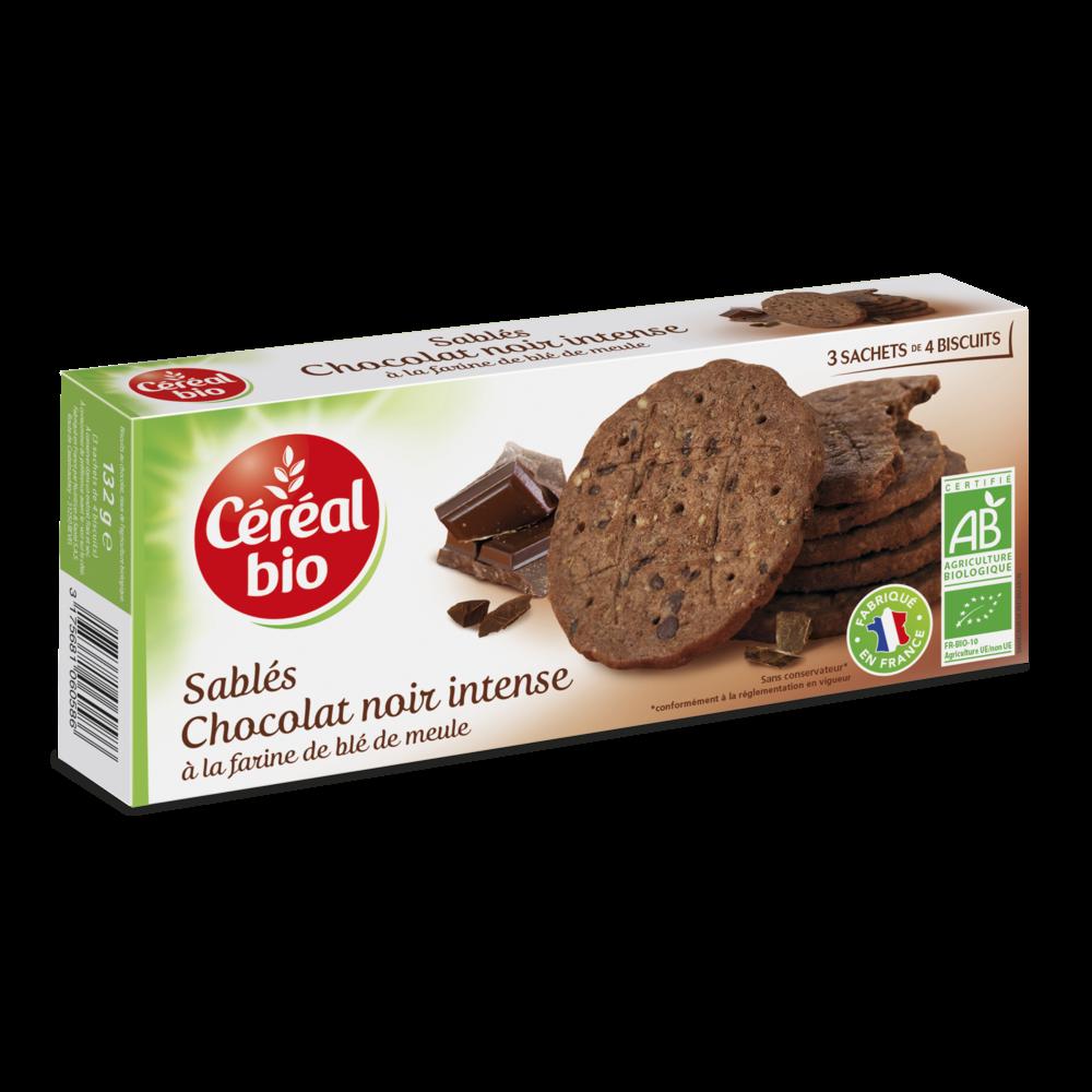 Biscuit chocolat noir intense, Céréal BIO (132 g)