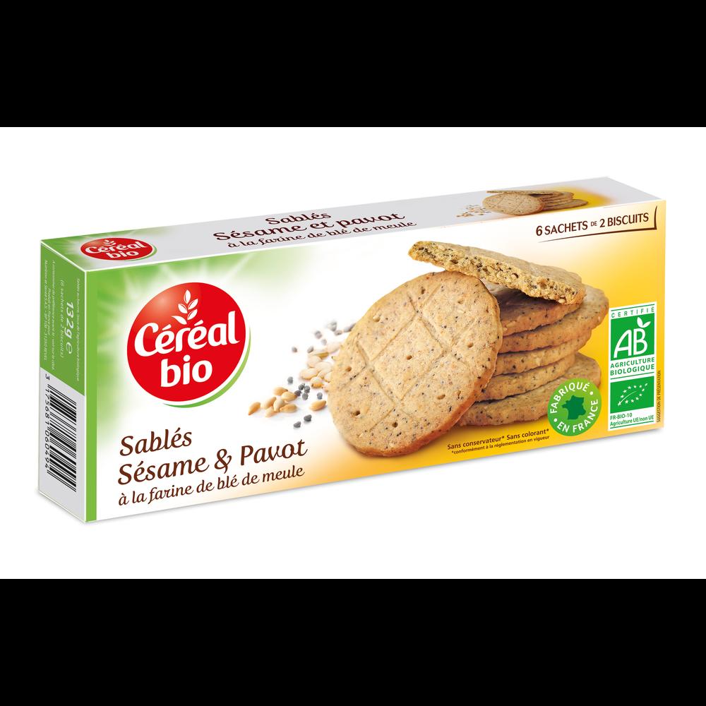 Biscuit pavot sésame, Céréal bio (132 g)