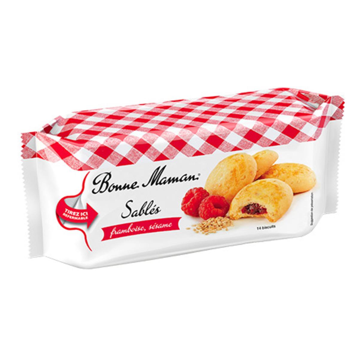 Sablés Framboise Sésame, Bonne Maman (150 g)