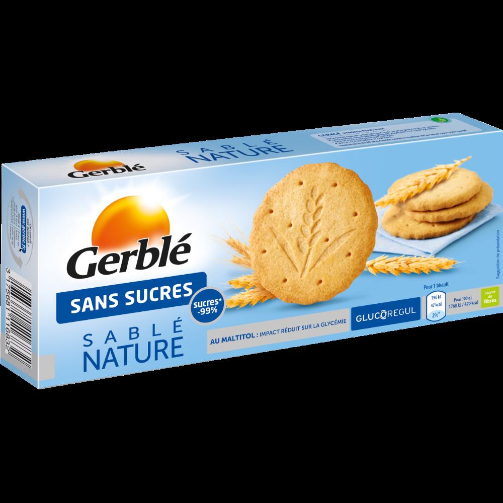 Biscuits sablés nature sans sucres, Gerblé (132 g)