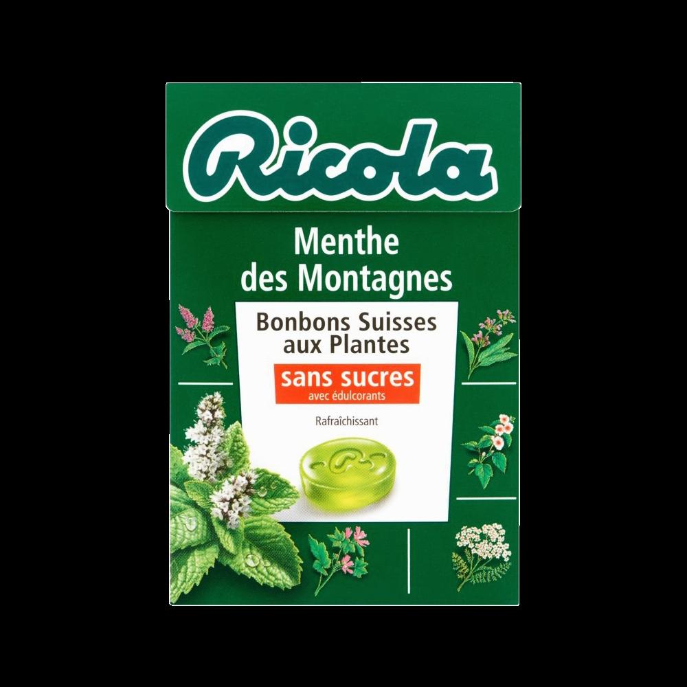 Bonbon Menthe des montagnes sans sucre, Ricola (50 g)