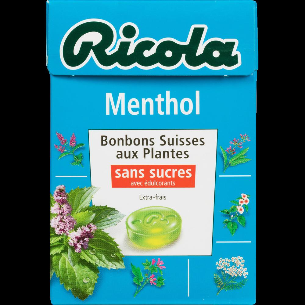 Bonbons menthol aux plantes sans sucre, Ricola (50 g)