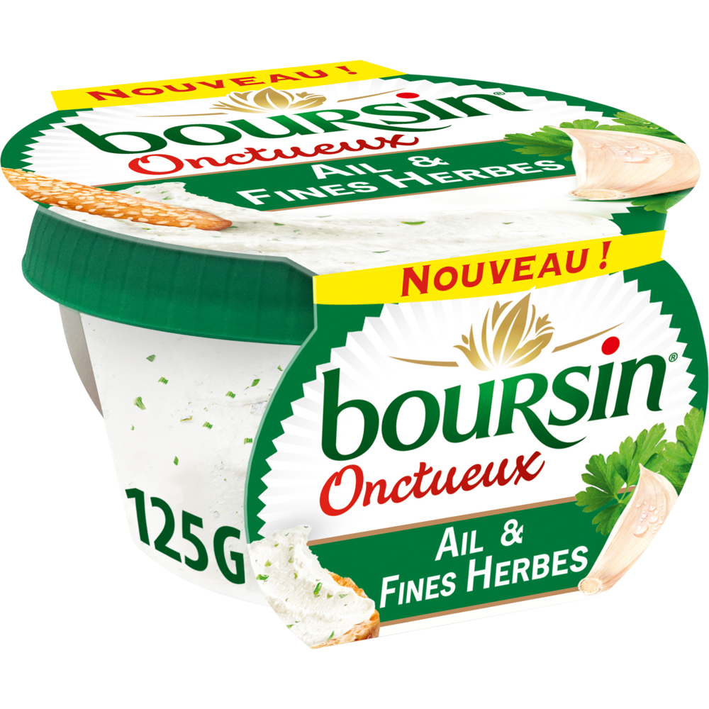 Boursin Ail & Fines Herbes Onctueux (125 g)