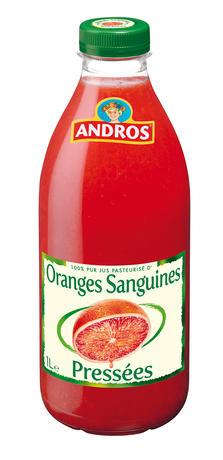 Jus d'oranges sanguines frais, Andros (1 L)