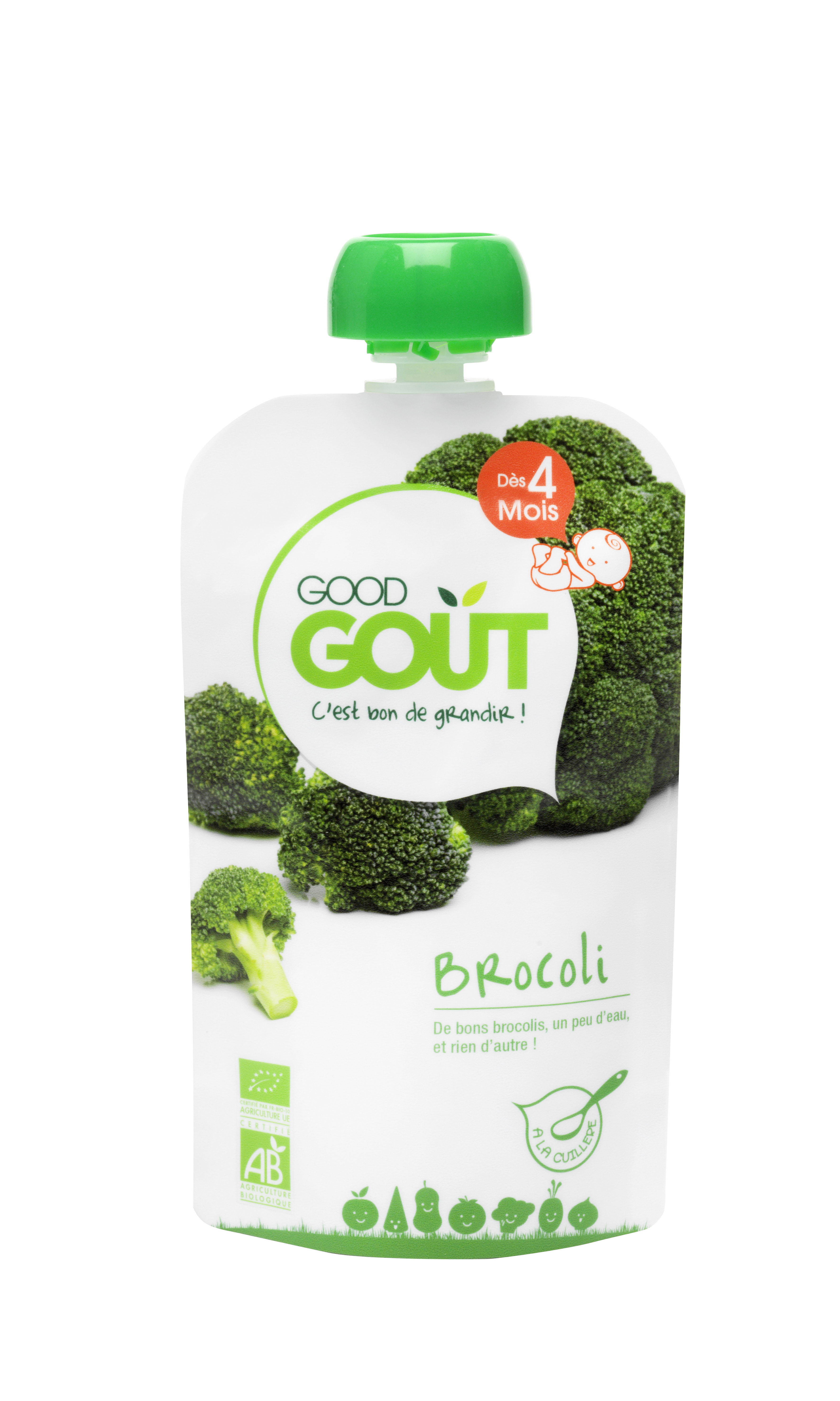 Good Gourde Brocoli BIO, Good Goût (120 g) - dès 4 mois