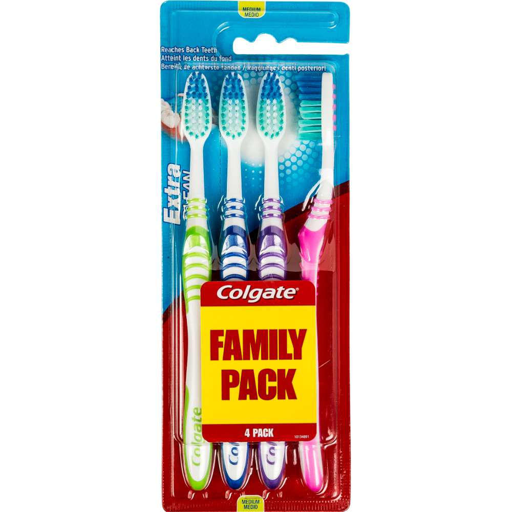 Brosses à dents médium Extra Clean, Colgate (x 4)