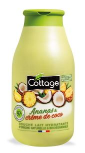 Douche lait Energisante Ananas et noix de coco, Cottage (250 ml)