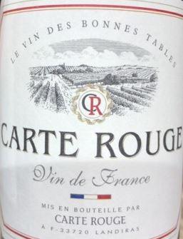 Vin De Table De France, Carte Rouge (75 cl)