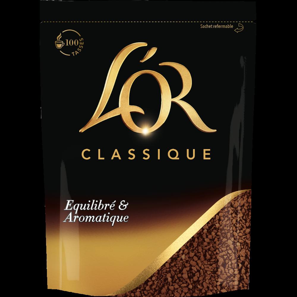 Café Soluble Classique Recharge, L'Or Soluble (180 g)
