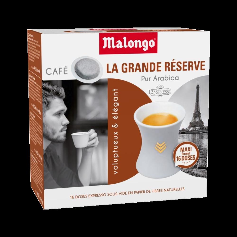 Café arabica La grand réserve en doses, Malongo (x 16)