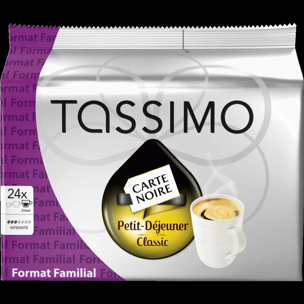 Café dosette Petit Déjeuner classique Carte Noir, L'Or Tassimo (x 24)