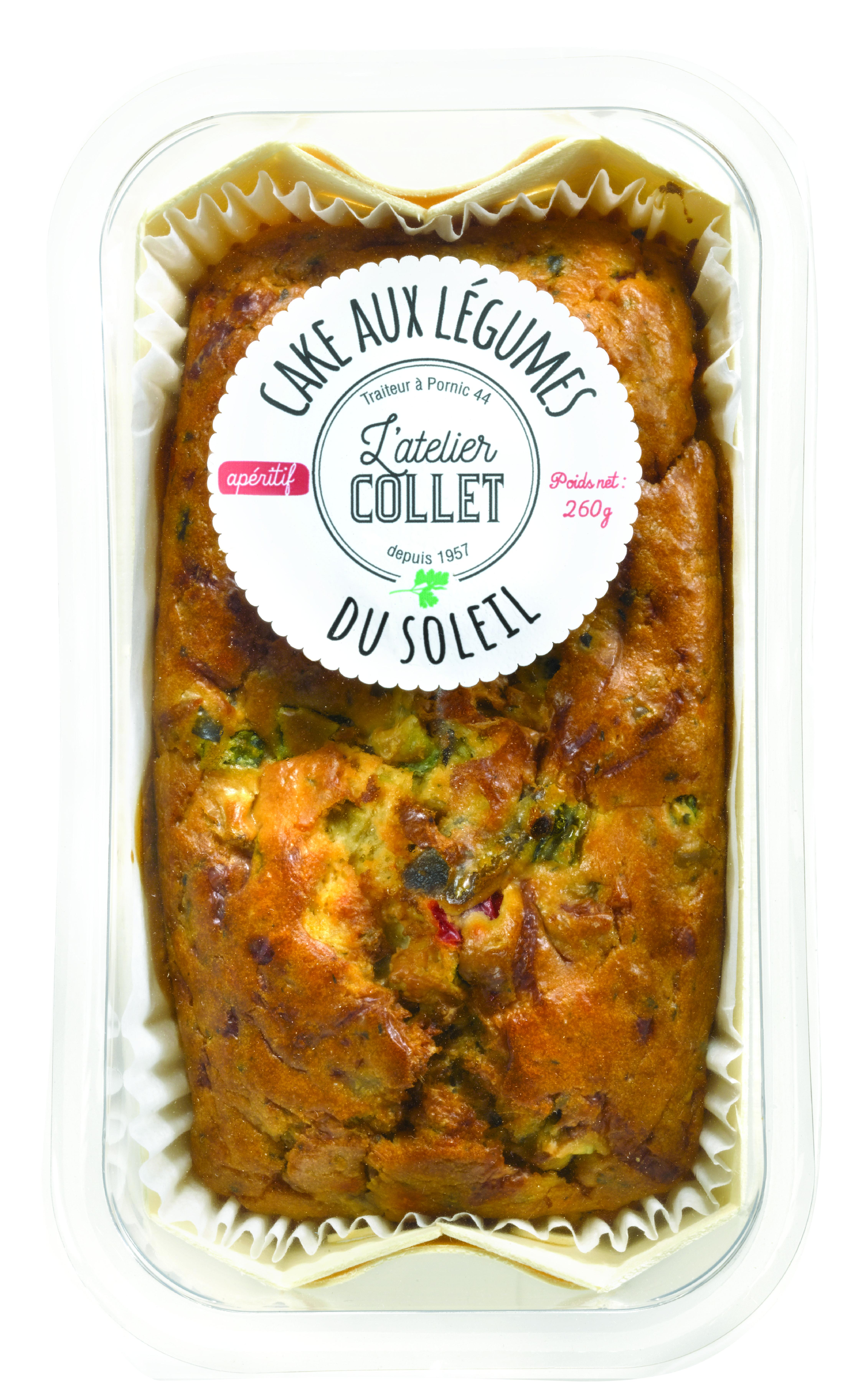 Cake aux légumes du soleil, L'atelier Collet (260 g)