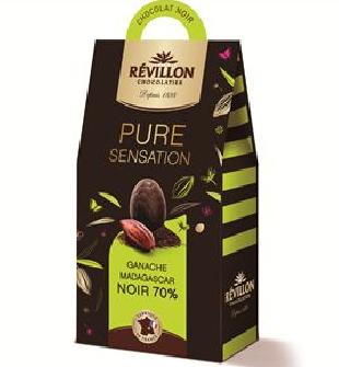 Oeufs ganache chocolat noir Pure sensation, Révillon (150 g)